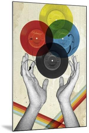 CMYK The Creation Of Retro-Elo Marc-Mounted Giclee Print