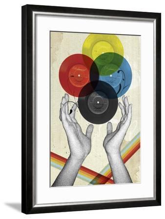 CMYK The Creation Of Retro-Elo Marc-Framed Giclee Print