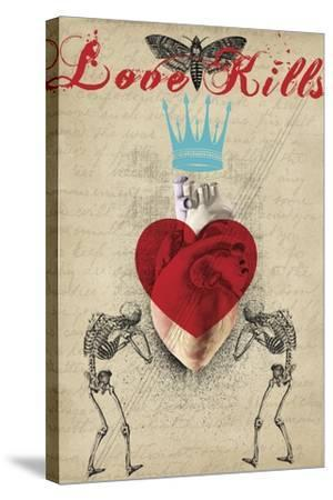 Love Kills-Elo Marc-Stretched Canvas Print