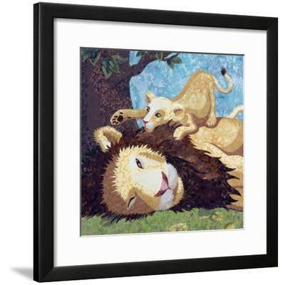 Afternoon Nap With Cub-Kestrel Michaud-Framed Giclee Print