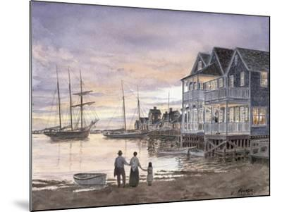 Nantucket Sunset-Stanton Manolakas-Mounted Giclee Print