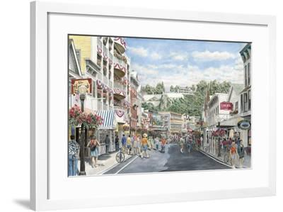 Main St.: Mackinaw-Stanton Manolakas-Framed Giclee Print