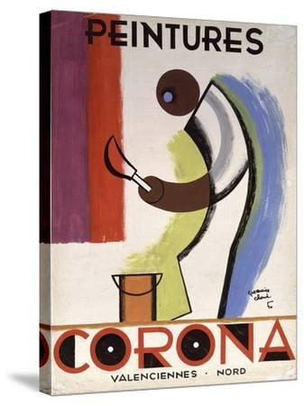 Corona Paint-Vintage Apple Collection-Stretched Canvas Print