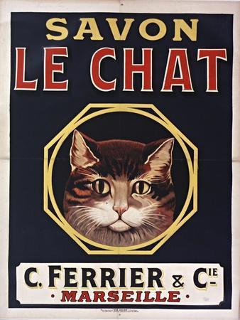 Savon Le Chat Black-Vintage Apple Collection-Framed Giclee Print