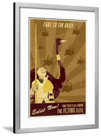 The Flying Elite-Steve Thomas-Framed Giclee Print
