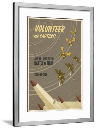 Volunteer for Capture-Steve Thomas-Framed Giclee Print