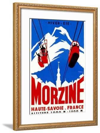 Morzine-Vintage Apple Collection-Framed Giclee Print