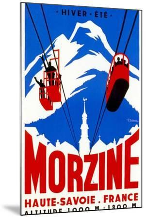 Morzine-Vintage Apple Collection-Mounted Giclee Print