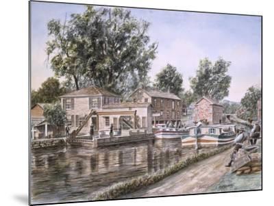 Weigh Locks On Penn Canal-Stanton Manolakas-Mounted Giclee Print