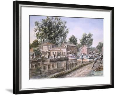 Weigh Locks On Penn Canal-Stanton Manolakas-Framed Giclee Print
