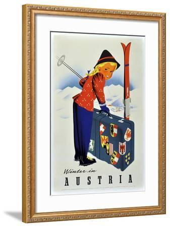 Winter Austria-Vintage Apple Collection-Framed Giclee Print