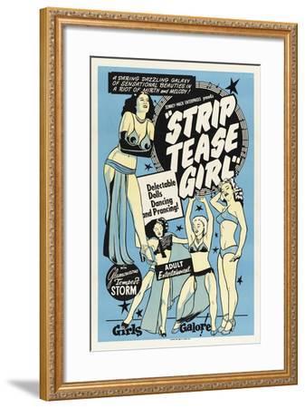 Striptease Girl-Vintage Apple Collection-Framed Giclee Print