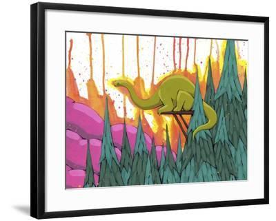 Overseeing The Range-Ric Stultz-Framed Giclee Print