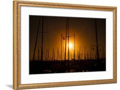 Mast Sunset-Chris Moyer-Framed Photographic Print