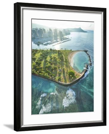 Magic Island Vertical-Cameron Brooks-Framed Photographic Print