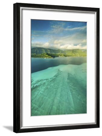 Sandbar Morning Vertical-Cameron Brooks-Framed Photographic Print