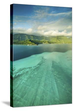 Sandbar Morning Vertical-Cameron Brooks-Stretched Canvas Print