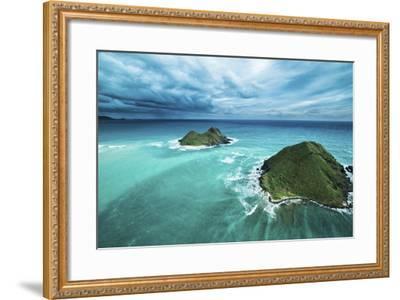 Stormy Lanikai-Cameron Brooks-Framed Photographic Print
