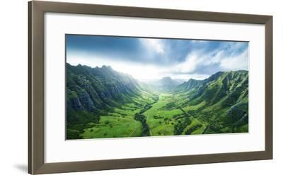 Kaaawa Valley Wide-Cameron Brooks-Framed Photographic Print