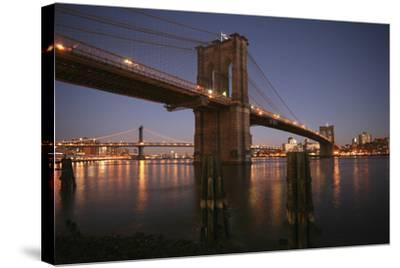 Brooklyn Bridge Twilight-Chris Bliss-Stretched Canvas Print
