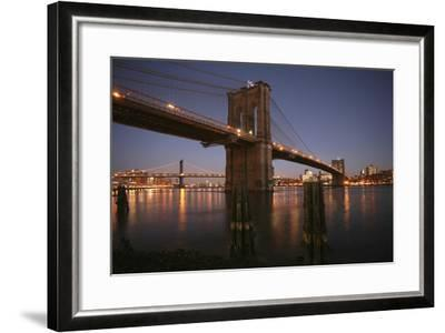 Brooklyn Bridge Twilight-Chris Bliss-Framed Photographic Print
