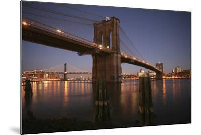 Brooklyn Bridge Twilight-Chris Bliss-Mounted Photographic Print