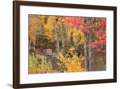 Boathouse In Autumn, Marquette, Michigan '12-Monte Nagler-Framed Photographic Print