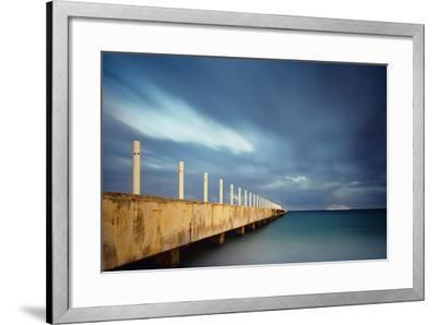 Muelle Playa 1 Color-Moises Levy-Framed Photographic Print