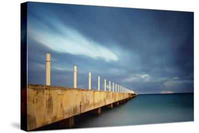 Muelle Playa 1 Color-Moises Levy-Stretched Canvas Print