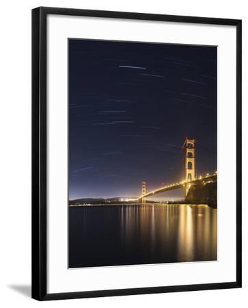 Golden Gate and Stars-Moises Levy-Framed Photographic Print