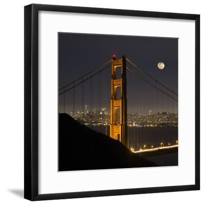Golden Gate and Moon-Moises Levy-Framed Photographic Print