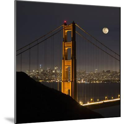 Golden Gate and Moon-Moises Levy-Mounted Photographic Print