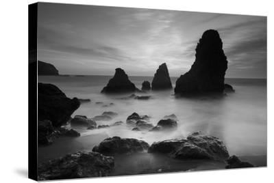 Rodeo Beach I, Black and White-Moises Levy-Stretched Canvas Print