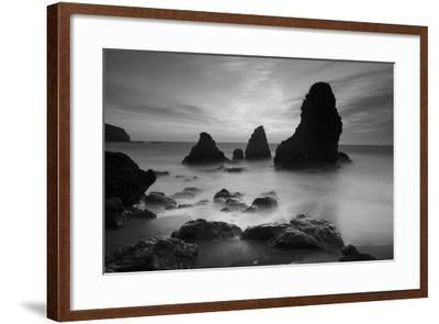 Rodeo Beach I, Black and White-Moises Levy-Framed Photographic Print