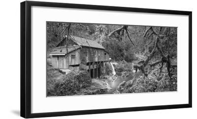 Cedar Creek Grist Mill B&W-Moises Levy-Framed Photographic Print