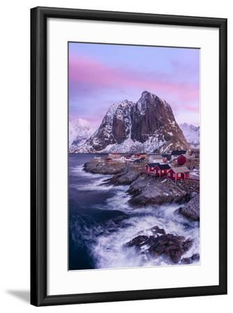Red Cabins - Vertical-Michael Blanchette Photography-Framed Photographic Print