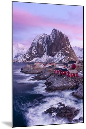 Red Cabins - Vertical-Michael Blanchette Photography-Mounted Photographic Print