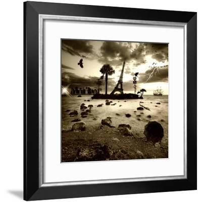 Eiffel Nightmare-Philippe Sainte-Laudy-Framed Photographic Print