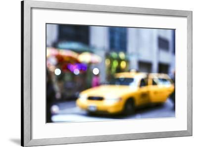 Lights of the City: Taxi-Arabella Studios-Framed Premium Photographic Print