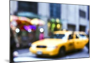 Lights of the City: Taxi-Arabella Studios-Mounted Premium Photographic Print