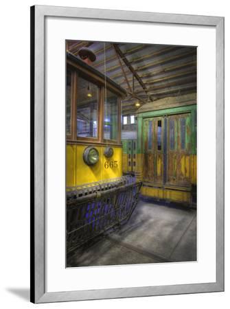 Los Angeles Railway Trolley #665-Robert Hansen-Framed Premium Photographic Print