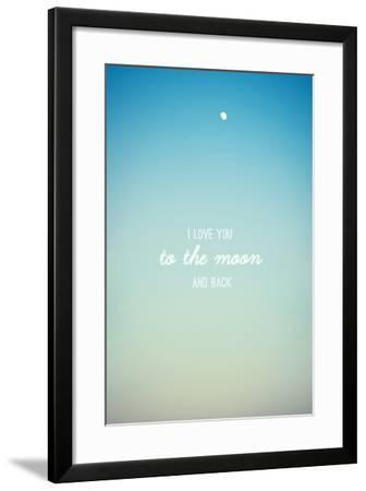 I Love you to the Moon and Back-Libertad Leal-Framed Premium Photographic Print