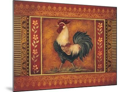 Mediterranean Rooster III-Kimberly Poloson-Mounted Art Print