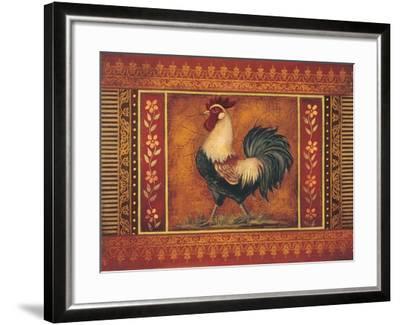 Mediterranean Rooster III-Kimberly Poloson-Framed Art Print