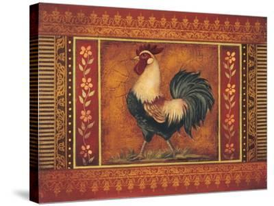 Mediterranean Rooster III-Kimberly Poloson-Stretched Canvas Print