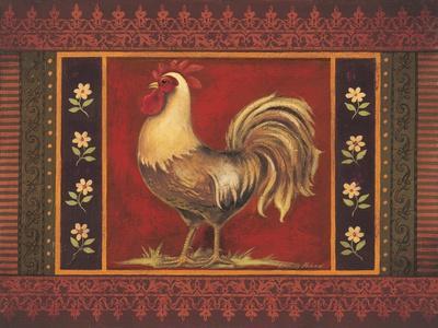 Mediterranean Rooster IV-Kimberly Poloson-Framed Art Print