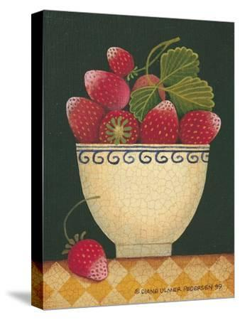 Cup O' Strawberries-Diane Pedersen-Stretched Canvas Print