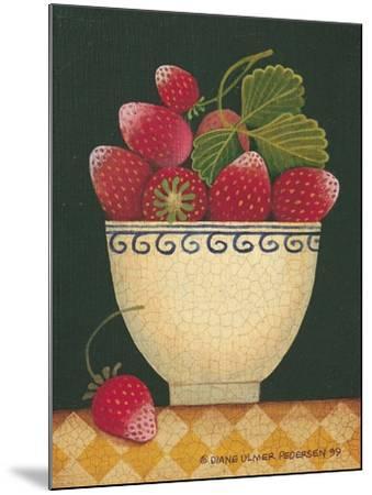 Cup O' Strawberries-Diane Pedersen-Mounted Art Print