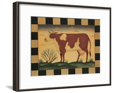 Farm Cow-Diane Pedersen-Framed Art Print