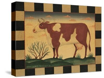 Farm Cow-Diane Pedersen-Stretched Canvas Print